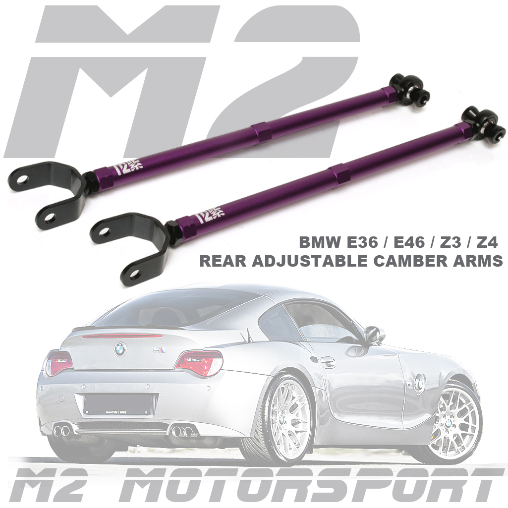 BMW E36 / E46 / Z3 / Z4 REAR ADJUSTABLE CAMBER ARMS