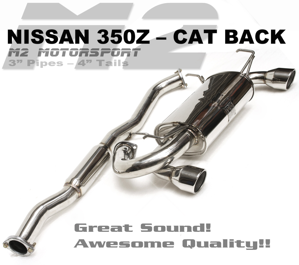 NEW FOR 2018 - 350Z  CAT BACK!!